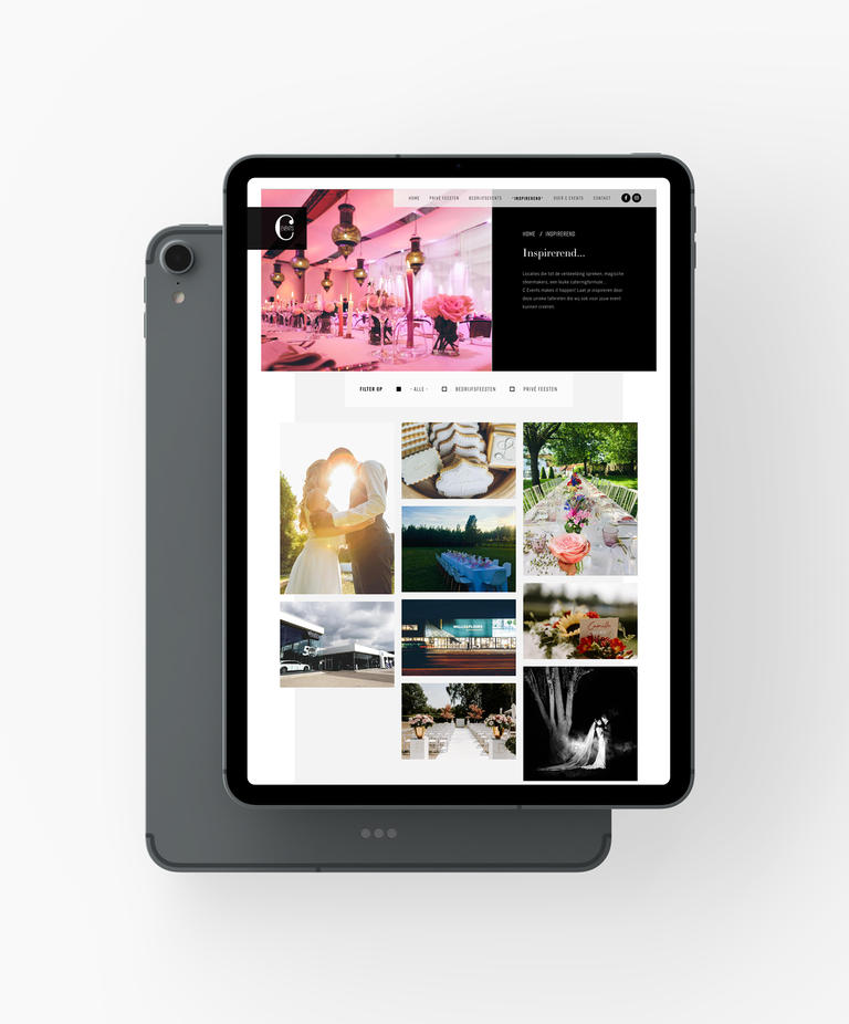Ipad c-events inspirerend pagina