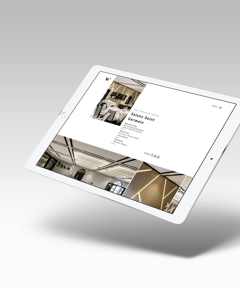 ipad met mockup website waeles