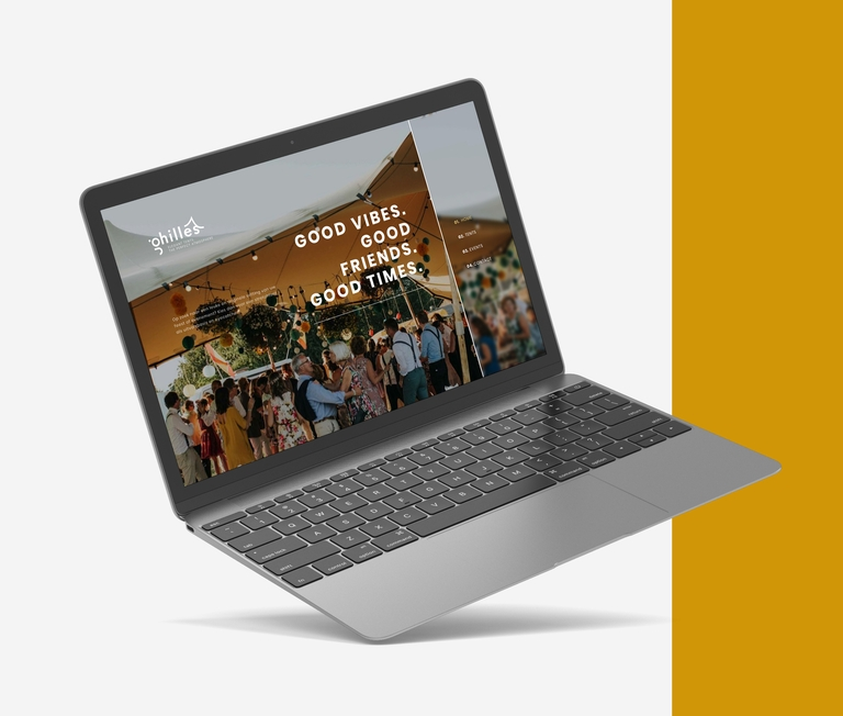 ghilles website macbook pro mockup