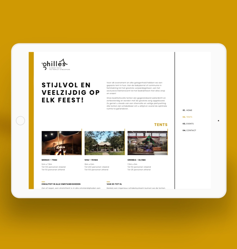 ghilles website ipad mockup