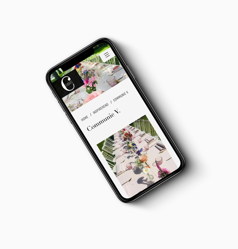 iphone website C-events pagina inspirerend