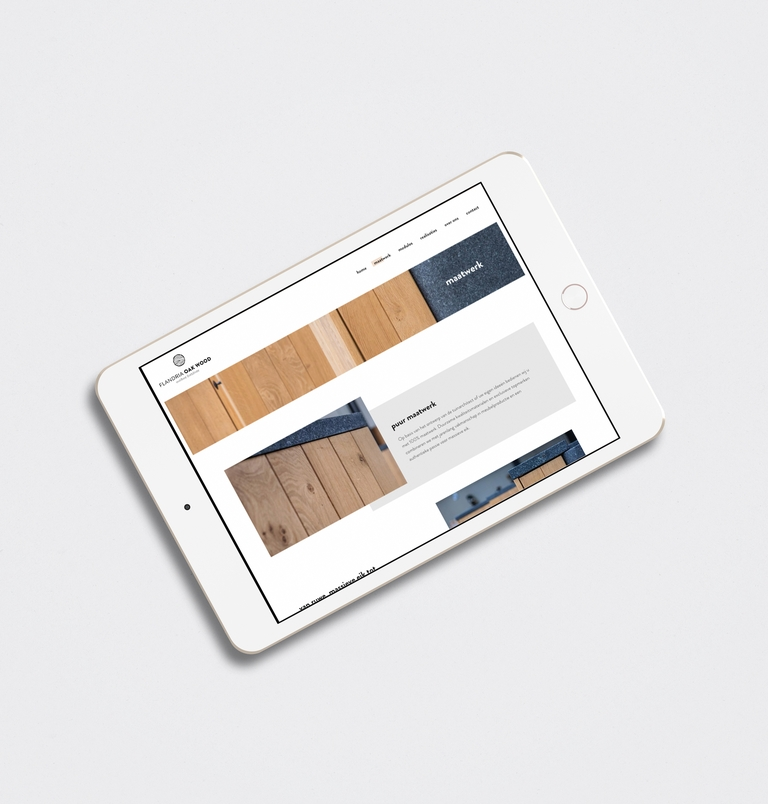 ipad met website flandria oak wood