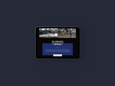 website Vincent Martens op ipad