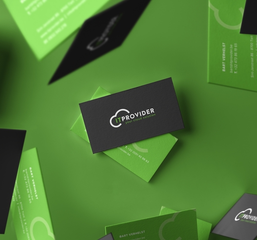 it provider business cards mockup