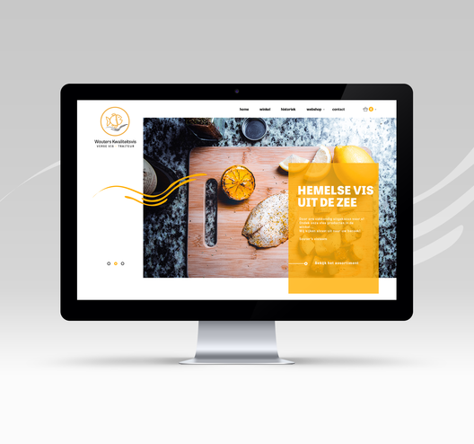 mockup website wouters kwaliteitsvis